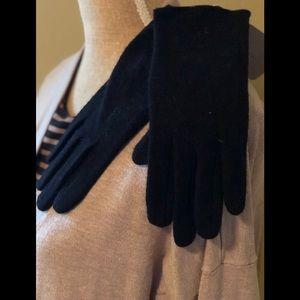 Zara black wool gloves